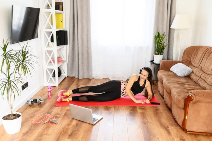 woman exercising with laptop | My Power Life