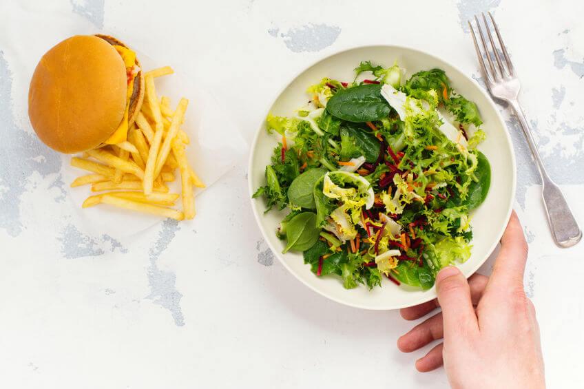 healthy vs unhealthy food | My Power Life
