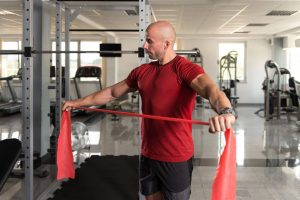 man with resistance band | My Power Life