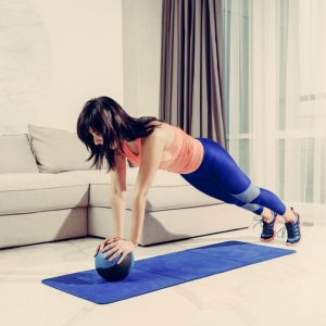 plank with medicine ball | My Power Life